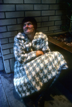 Homeless Elderly Woman